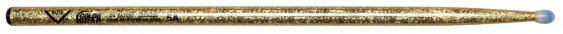 Vater Color Wrap 5A Gold Sparkle Nylon Tip Drumsticks