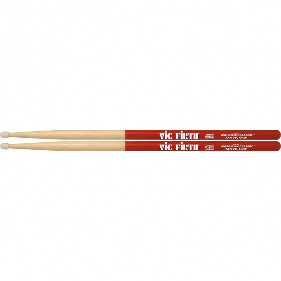 Vic Firth American Classic® 7AN Nylon Tip Vic Grip Hickory Drumsticks