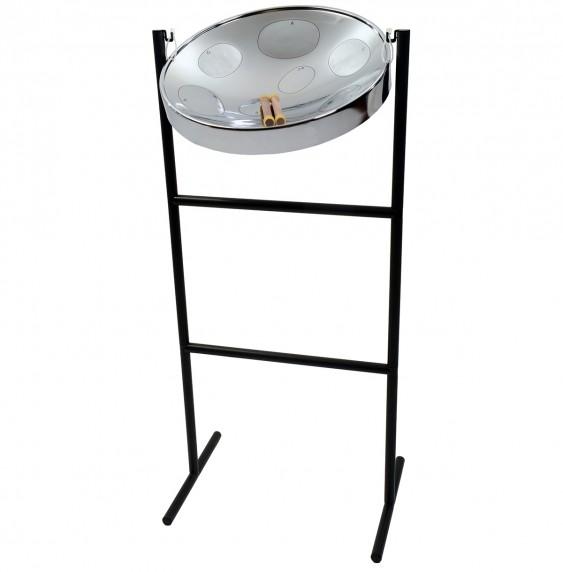 Jumbie Jam Steel Drum Kit with Tube Floor Stand - Chrome Pan