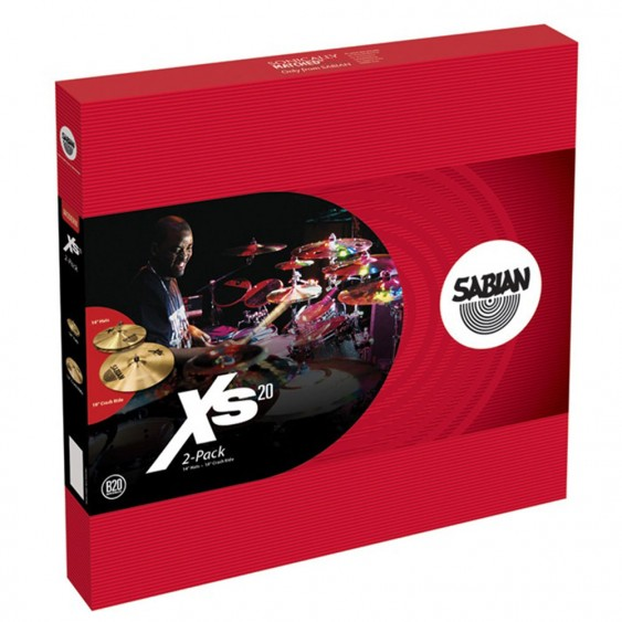 SABIAN Xs20 2-Cymbal Pack Brilliant