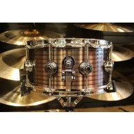 DW Drum Workshop 6.5x14 Ribbed Vintage Steel - Copper Snare Chrome Hardware ** B-STOCK**