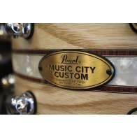 Pearl Music City Custom 6.5x14 Steam Bent Ash w/ Kingwood Royal inlay