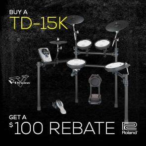 Roland TD-15K V-Tour® Series Electronic Drum Set