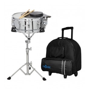 MAJESTIC SNARE DRUM & PRACTICE PAD KIT WITH TROLLEY