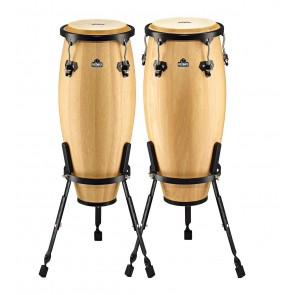 "Meinl NINO Wood Conas 9"" & 10"" Set, Incl. Basket Stands Natural"