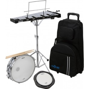 MAJESTIC  SNARE DRUM , BELLS & PRACTICE PAD KIT WITH TROLLEY