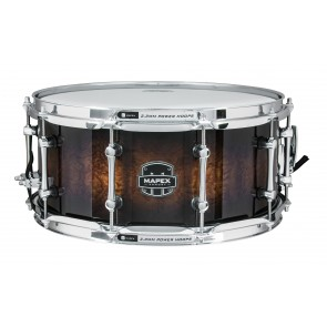 "Mapex Armory 14""x6.5"" The Exterminator Snare Drum Ebony Stain over Figured Wood"