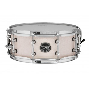 "Mapex Armory 14""x5.5"" Peacemaker Snare Drum Antique Ivory over Figured Wood"