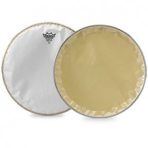"Snare Side, Crimped, Falamas II, Smooth White, Underlay Ring, 14"" Drumhead"