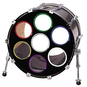 "Bass Drum O's 5"" Bass Drum Hole Reinforcing Ring (Black)"