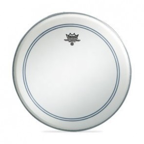 """Remo 28"""" Coated Powerstroke 3 Bass Drumhead w/ 2-1/2"""" White Falam Patch"""
