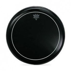 "Remo 18"" Ebony Pinstripe Batter Drumhead"