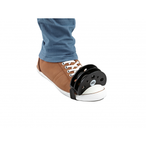 Meinl Foot Tambourine with Steel Jingles (Black) FJS2S-BK