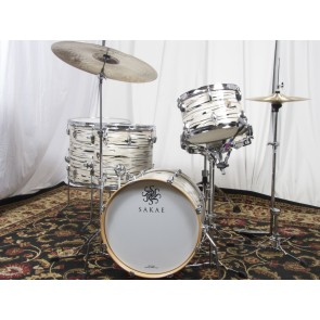"Sakae Trilogy Series Bop Kit 12"" 14"" 16"" 18"" with 5.5x14"" Snare - Mint Oyster Pearl (FREE 16"" FLOOR TOM!)"