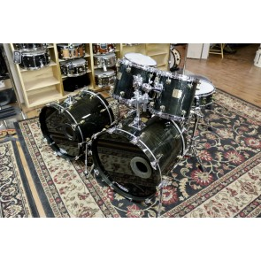 Used Yamaha Maple Custom, Ebony, with Tom Stand, Snare Stand, Enduro Cases for  16x22 and toms, soft bag for 16x20