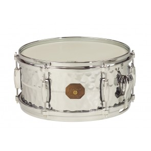 Gretsch 6X13 Hammered Chrome Over Brass Snare Drum