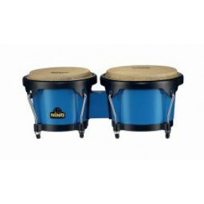 "Meinl NINO ABS Bongos Plus 6 1/2"" & 7 1/2"" Blue Shell/ Black Hardware"