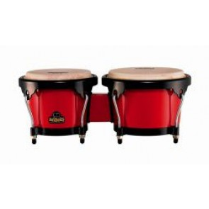 "Meinl NINO ABS Bongos Plus 6 1/2"" & 7 1/2"" Red Shell/ Black Hardware"
