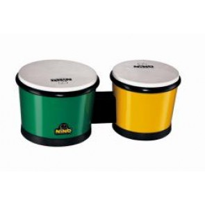 "Meinl NINO ABS Bongos 6 1/2"" & 7 1/2"" Green/ Yellow"