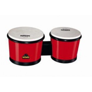 "Meinl NINO ABS Bongos 6 1/2"" & 7 1/2"" Red"