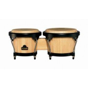 "Meinl NINO Wood Bongos 6 1/2"" & 7 1/2"" Natural/ Black Hardware"