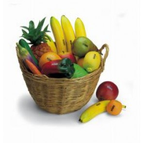 Meinl NINO Botany Assortment of 36 Pieces Fruit & Vegetables with Baskets