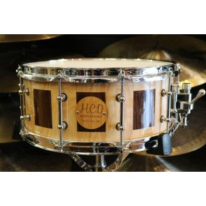 HCD Holloman Custom Maple Walnut 6X14 Snare Drum