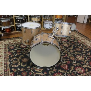 Used 1965 Ludwig 3pc, 13,16,22, Champagne Sparkle, Chrome over Brass Hoops