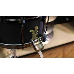 Noble & Cooley Alloy Classic Snare Drum, 6x14 Black Finish with Black Die-cast Hoops