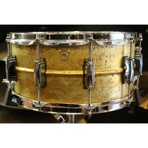 Ludwig 14 x 6.5 Raw Brass Phonic Snare Drum LB464R