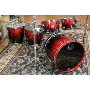 DEMO Model Mapex Saturn V Exotic MH Studio Ease Drum Set 18x22 BD, 7x10, 8x12, 12x14, 14x16 Full Warranty SV628XUBKLE-DEMO