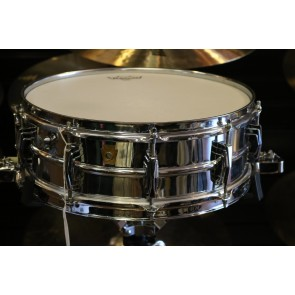 Used Vintage Ludwig 5X14 Super Sensitive, Chrome over Brass, No Serial #, w/case
