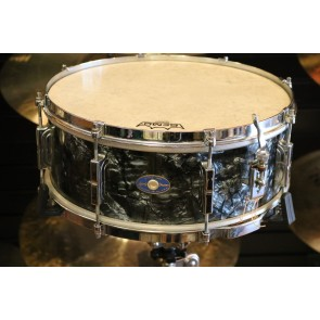 Used 1960 Vintage Leedy Black Diamond 5.5X14 Wood Snare (Slingerland era) w/case and stand