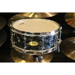 Used Pearl Concert Series 5.5X14 Snare in Custom Black Diamond Finish wCable Snares