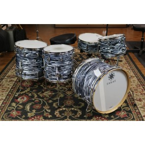 Sakae Trilogy Series Street Kit, 14x20 Bass, 8x12 Tom, 14x14 Floor, 16x16 Floor, 5.5x14 Snare Drum, Black Oyster Pearl