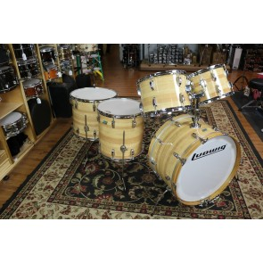Used 70's Vintage Ludwig Drum Set, Butcher Block finish,   13,14,16,18, 24