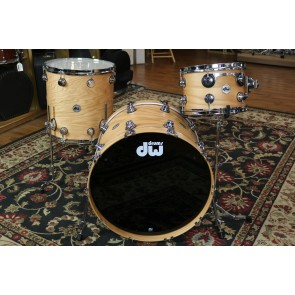 DW Collector's Series Pure Oak Shell Pack in Natural Satin Oak 8x12, 16x16, 16x22
