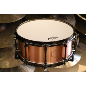 Noble & Cooley 6x14 Copper Snare Drum with Black Chrome Hardware