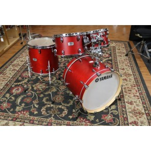 Yamaha Tour Custom Drum Set - 15x20, 7x10, 8x12,13x14 In Candy Apple Satin