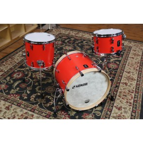 Sonor SQ1 Birch Drumset 12X8,14X13,20X16 in Hot Rod Red Finish SQ1-320-NM-HRR