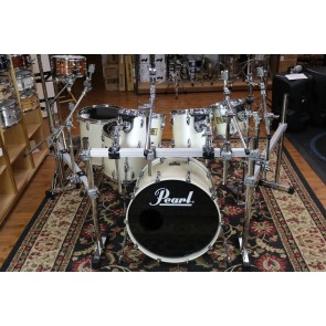 Used 90s era Pearl Masters Custom Extra Maple, Opal Finish, w/rack and Hardware, 8,10,12,14,16,22