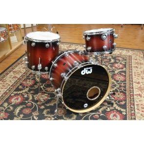 Used DW Collectors Kit in Satin Tobacco Burst, 9x13, 16x16, 18x22, Birch Toms, Maple Bass