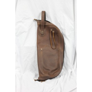 Woodshed Leatherworks Brown Leather Stick Bag