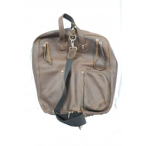 Woodshed Leatherworks Brown Leather Deluxe Stick Bag