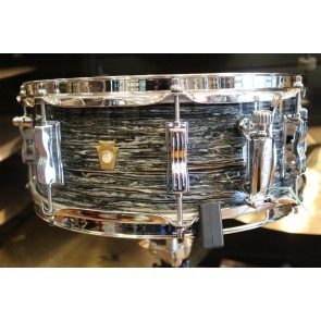 Ludwig 5.5x14 Jazz Festival Snare Drum, Legacy Mahogany Shell in Vintage Black Oyster LS9081Q