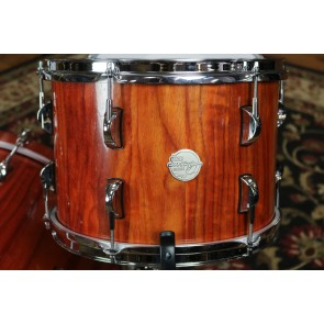 Doc Sweeney Drums Padauk Stave Shell Drum Kit, 14x22, 9x13 tom, 14x16 Floor, Matching 6x14 Snare Drum