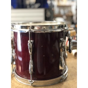 "Used Yamaha 10"" Stage Custom Rack Tom. Cranberry Red. No Badges. Pearl Batter Hoop"