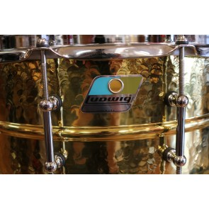Ludwig - 6 1/2X14 Hammered Brass Snare Drum, B-STOCK