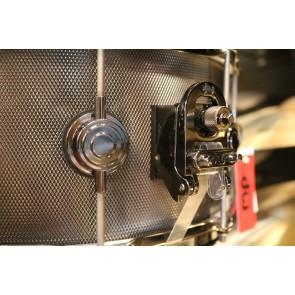 DW Drum Workshop 6.5x14 Knurled Black Nickel over Steel w/ Black Nickel Hardware