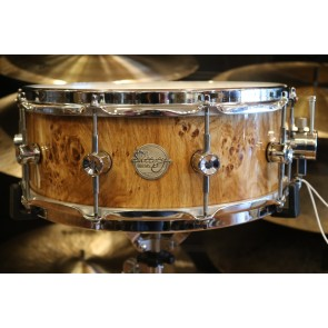 Doc Sweeney 6x14 German Burl Oak Stave Shell Snare Drum
